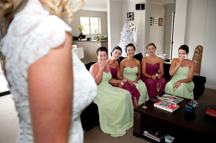 bride bridesmaids bridal party nelson nz wedding photos bridal party sandra johnson boutique photography getting ready preparation reveal